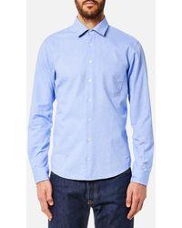 BOSS Orange - Epop Sueded Oxford Shirt - Lyst