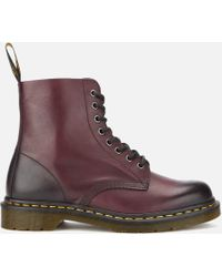 Dr. Martens - Core Pascal Leather 8-eye Lace Up Boots - Lyst