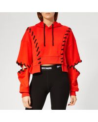 Ivy Park - Craft Lace Up Hoodie - Lyst
