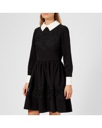 Ted Baker - Haeden Collared Lace Panel Dress - Lyst