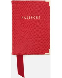 Aspinal - Plain Passport Cover - Lyst