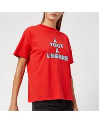 Gestuz - Marge Red T-shirt - Womens M - Lyst