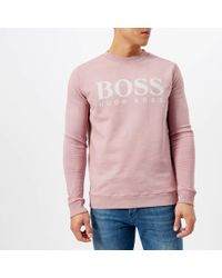 BOSS Orange - Walker Logo Sweatshirt - Lyst
