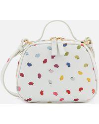 Lulu Guinness - Henrietta Confetti Lip Print Tote Bag - Lyst