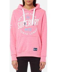 Superdry - City Of Dreams Hooded Sweatshirt - Lyst
