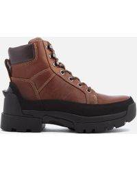 HUNTER - Balmoral Leather Lace Up Boots - Lyst