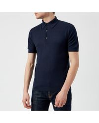 John Smedley - Roth 30 Gauge Sea Island Cotton Polo Shirt - Lyst