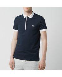 7399f1b46 BOSS Green Hugo Boss Paule 4 Navy Polo Shirt in Blue for Men - Lyst