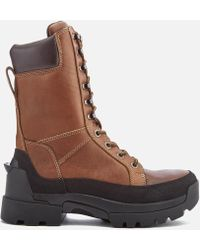 HUNTER - Field Lace Up Tall Boots - Lyst