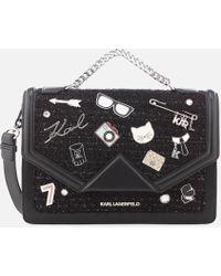 Karl Lagerfeld - K/klassik Pins Shoulder Bag - Lyst