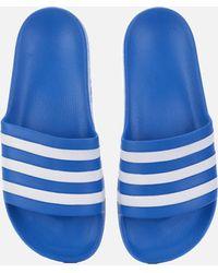 461cfc68517f8 Lyst - adidas Adilette Aqua Slide Sandals in Blue for Men