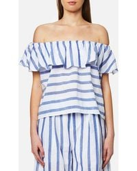 Paisie - Stripe Off The Shoulder Top - Lyst