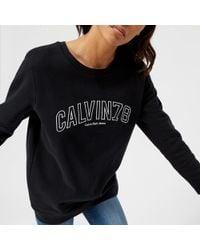 Calvin Klein - Core Fit Crew Neck Sweatshirt - Lyst