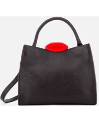 Lulu Guinness - Small Locked Lips Opt/strap Annette Tote Bag - Lyst