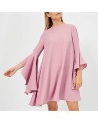 Ted Baker - Ashleyy A Line Waterfall Sleeve Dress - Lyst