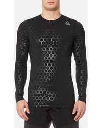 Reebok - Hexawarm Long Sleeve Compression T-shirt - Lyst