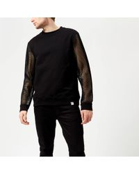 Versace - Mesh Sleeve Sweatshirt - Lyst