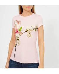 Ted Baker - Ameliza Harmony Fitted T-shirt - Lyst