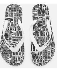 Armani Exchange - Ax Flip Flops - Lyst