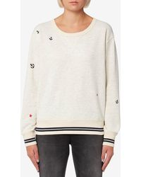 Maison Scotch - Vintage Inspired Embroidered Sweatshirt - Lyst