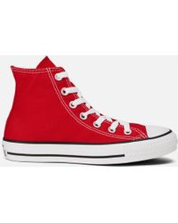 Converse - Unisex Chuck Taylor All Star Canvas Hitop Trainers - Lyst