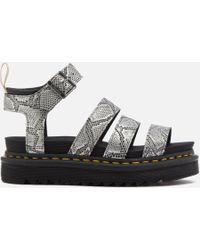 Dr. Martens - Vegan Blaire Strappy Flatform Sandals - Lyst