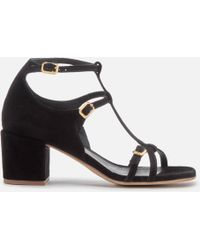 H by Hudson | Freja Suede Heeled Sandals | Lyst
