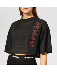 Ivy Park - Active Craft Mesh Crop T-shirt - Lyst