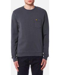 Lyle & Scott   Garment Dye Sweatshirt   Lyst
