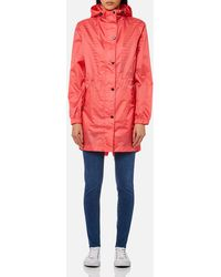 Joules - Golightly Packaway Hi-low Hem Waterproof Rain Jacket - Lyst
