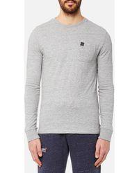 Superdry - Surplus Goods Long Sleeve Pkt T-shirt - Lyst