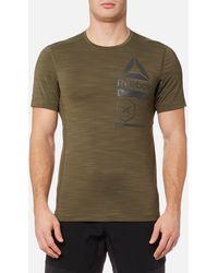 Reebok - Activchill Zoned Graphic Short Sleeve T-shirt - Lyst