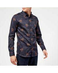Ted Baker - Pantha Printed Long Sleeve Shirt - Lyst