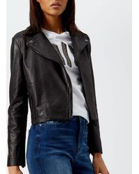 Armani Exchange - Nappa Leather Jacket - Lyst