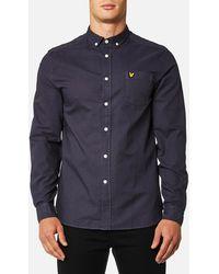 Lyle & Scott - Garment Dye Oxford Shirt - Lyst