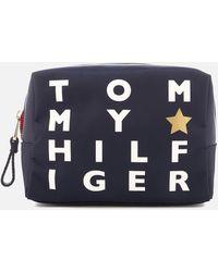 Tommy Hilfiger | Poppy Logo Print Wash Bag | Lyst