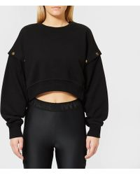 Ivy Park - Armour Poppers Crop Sweatshirt - Lyst