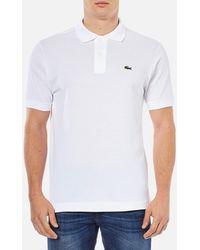 Lacoste - Basic Pique Short Sleeve Polo Shirt - Lyst