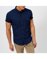 BOSS Orange - Elibre Short Sleeve Shirt - Lyst