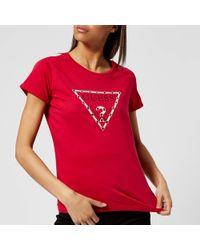 Guess - Eyelets T-shirt - Lyst