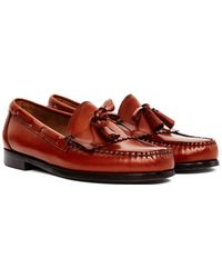 G.H.BASS - Weejuns Tassle Loafers Tan - Lyst