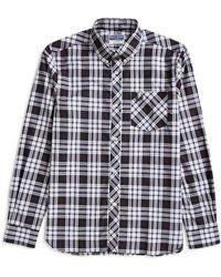 Fred Perry - Long Sleeve Tartan Shirt Black - Lyst