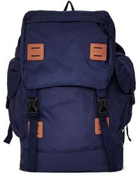 The Idle Man - Globetrotter Backpack Navy - Lyst