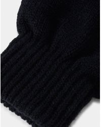 The Idle Man - Smart Touch Gloves Black - Lyst