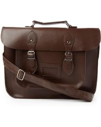 The Idle Man - Leather-look Satchel Brown - Lyst