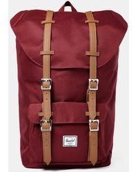 Herschel Supply Co. - Little America Backpack Burgundy - Lyst