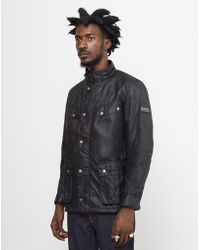 Barbour - Duke Wax Jacket Black - Lyst