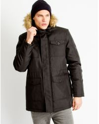 Only & Sons - Mens Parka Coat Black - Lyst