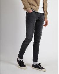 Nudie Jeans - Skinny Lin Jeans Black Movement - Lyst