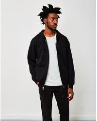 The Idle Man - Classic Zip Through Hoodie Black - Lyst